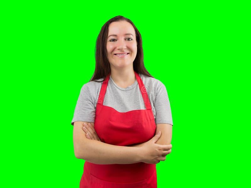 Женщина с усмехаться рисбермы стоковые фотографии rf