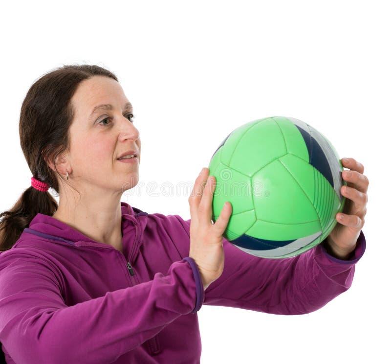Женщина с шариком стоковое фото