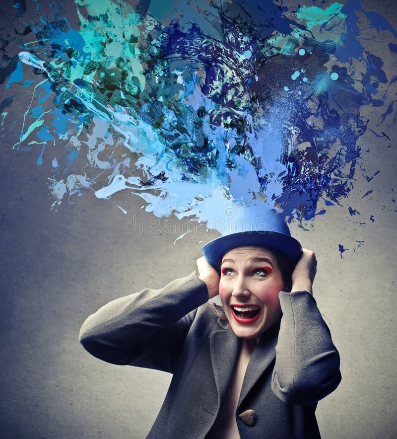 Женщина с шляпой стоковая фотография rf