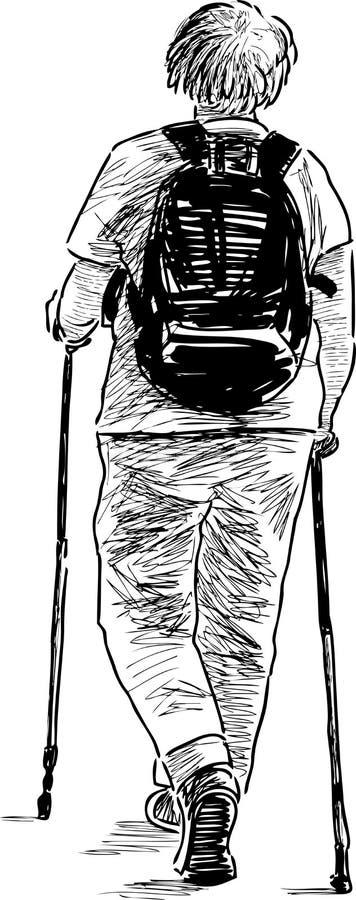 Женщина с norvegian ручками бесплатная иллюстрация