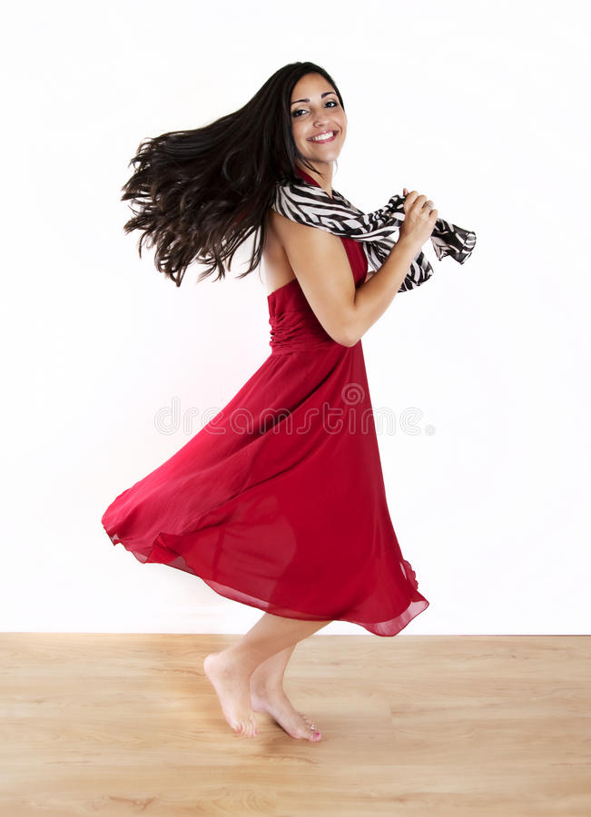 женщина танцы стоковое фото