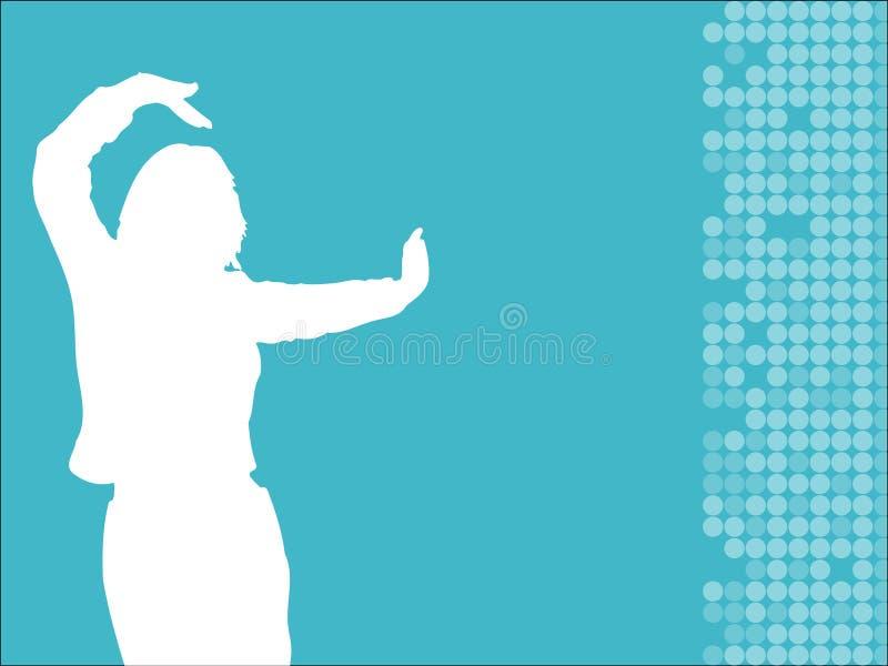 женщина танцы иллюстрация вектора