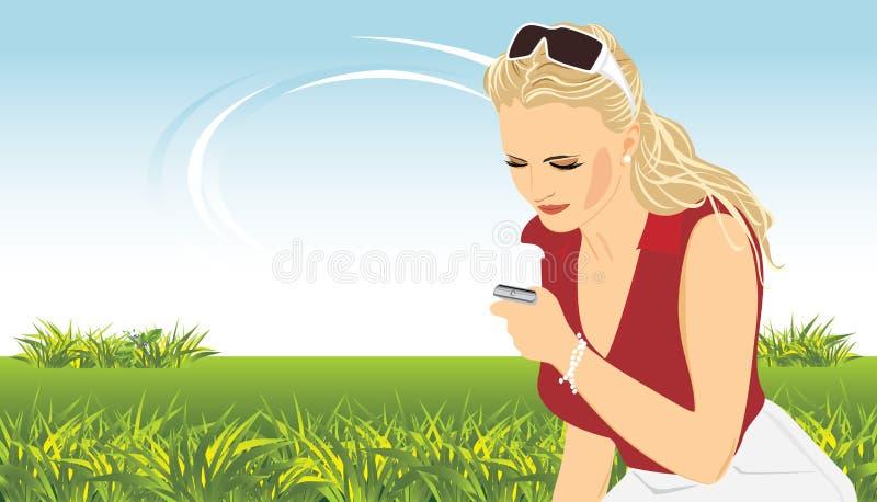 Download женщина телефона весны состава передвижная Иллюстрация вектора - иллюстрации насчитывающей девушка, волосы: 18397225