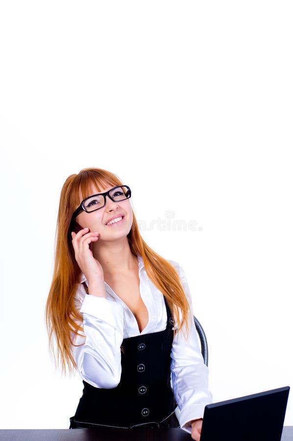 женщина телефона дела говоря стоковое фото rf
