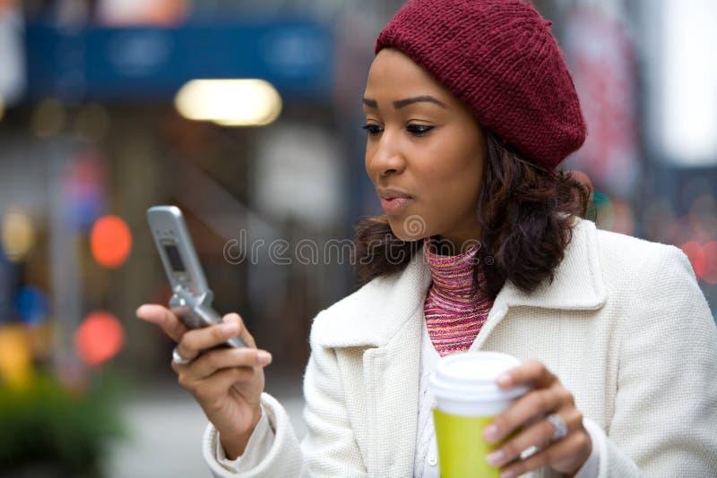 женщина телефона дела стоковое фото rf