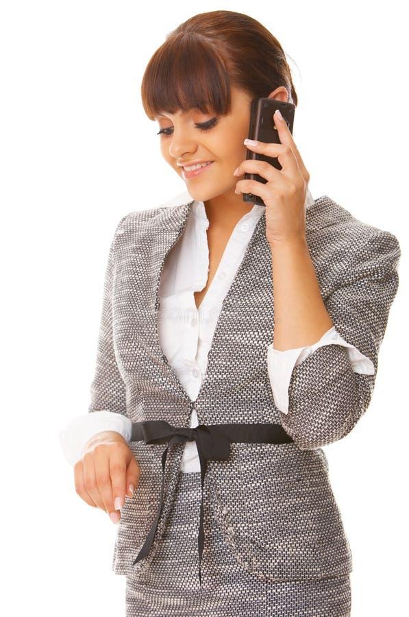 женщина телефона дела стоковые изображения rf