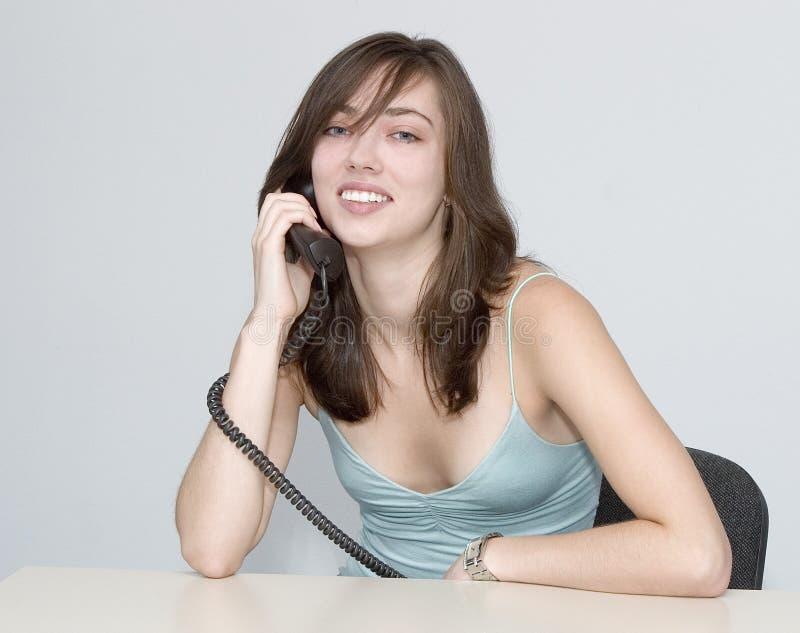 женщина телефона переговора стоковое фото rf