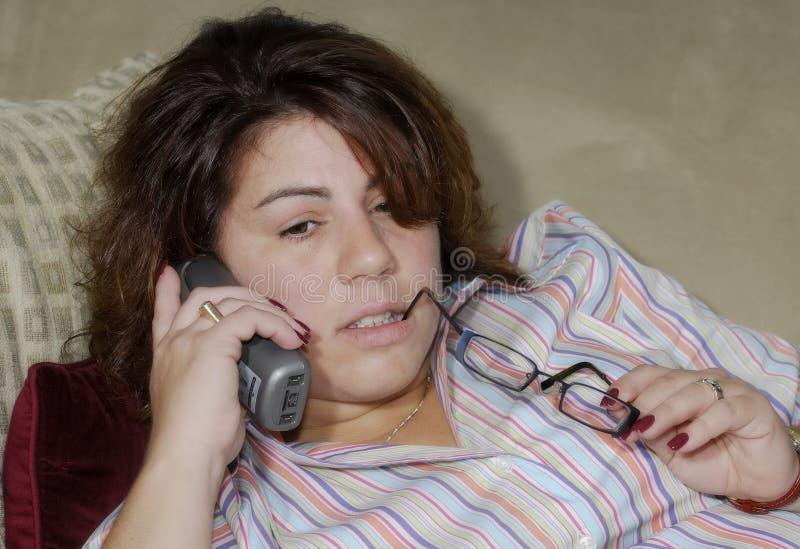 женщина телефона стоковое изображение