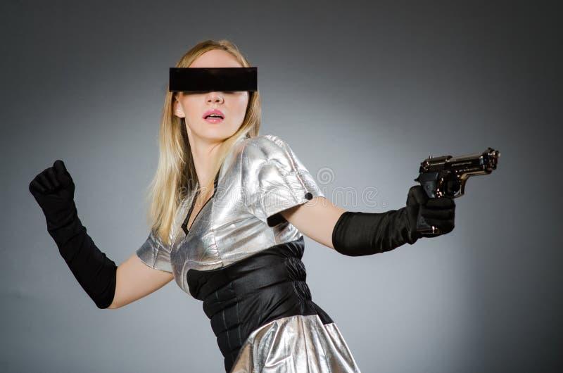 Женщина техника стоковая фотография rf