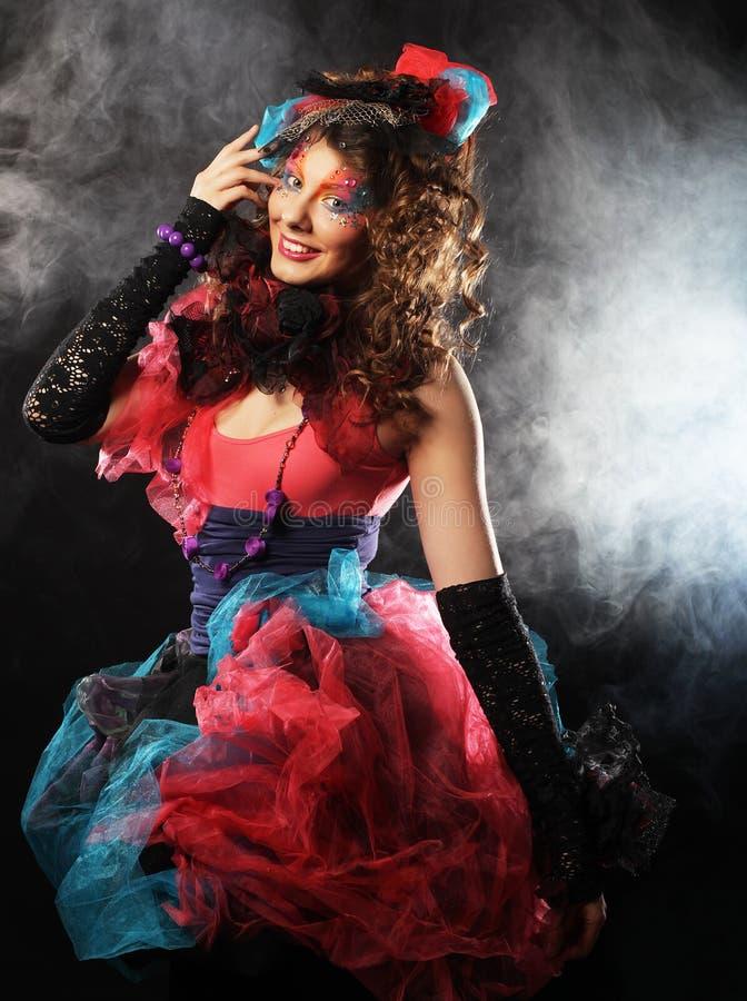 женщина типа съемки способа куклы творческо составьте Фантазия d стоковые фотографии rf