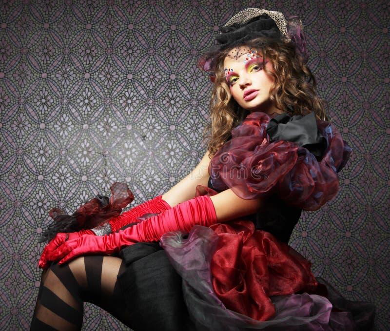 женщина типа съемки способа куклы творческо составьте Д-р фантазии стоковые изображения rf