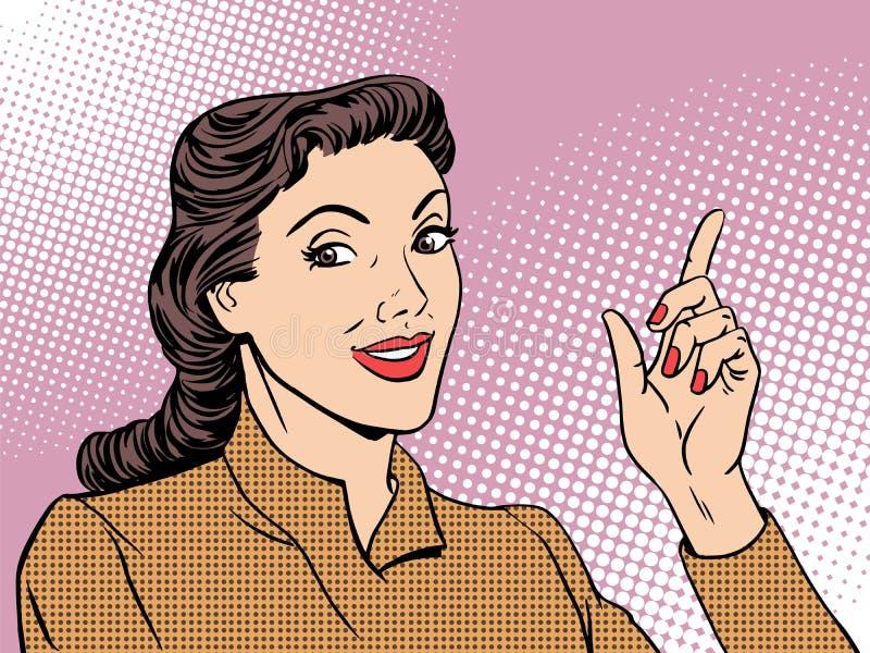 Женщина тренера дела ретро бесплатная иллюстрация