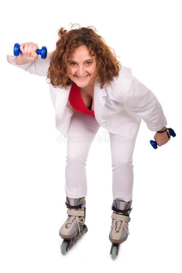 женщина тренировки Стоковые Фотографии RF