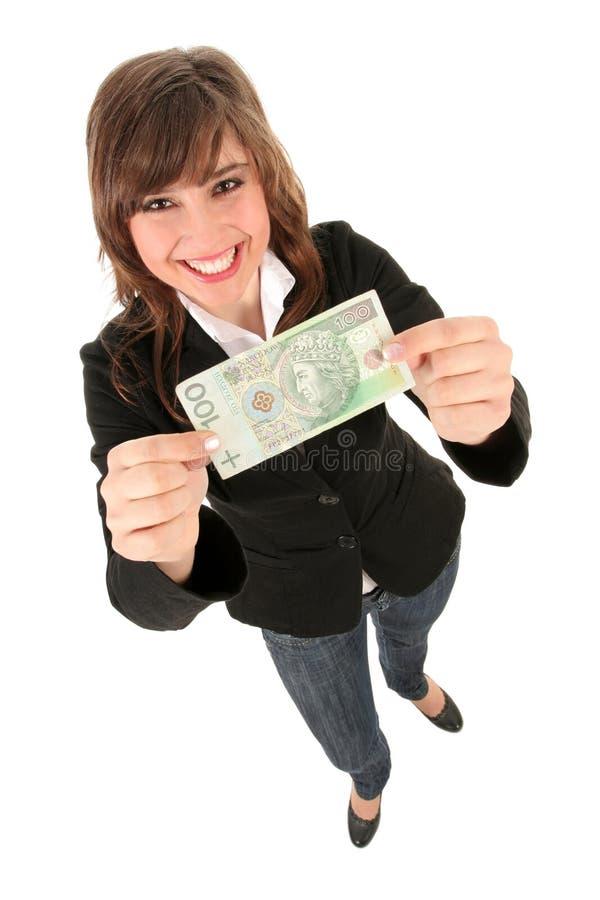 женщина удерживания кредитки стоковая фотография