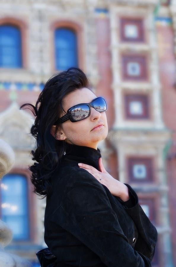 женщина улицы красивейшего города итальянская старая стоковые изображения rf