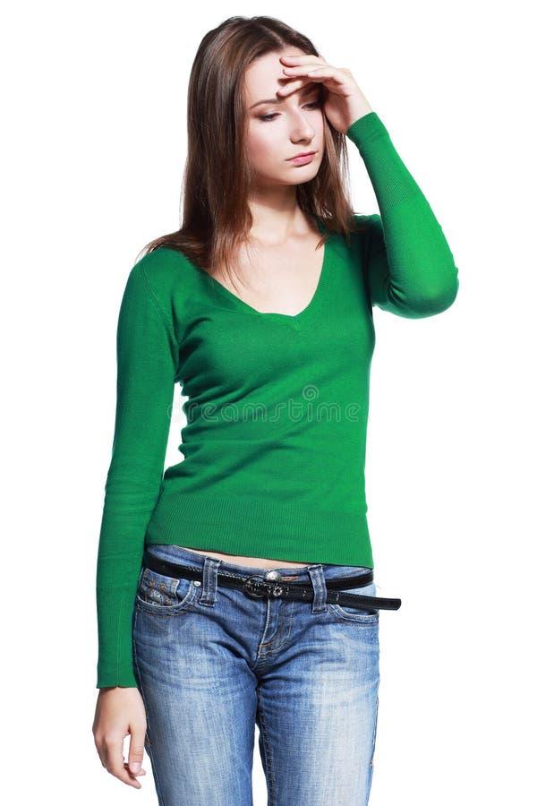 Женщина унылая стоковые фото
