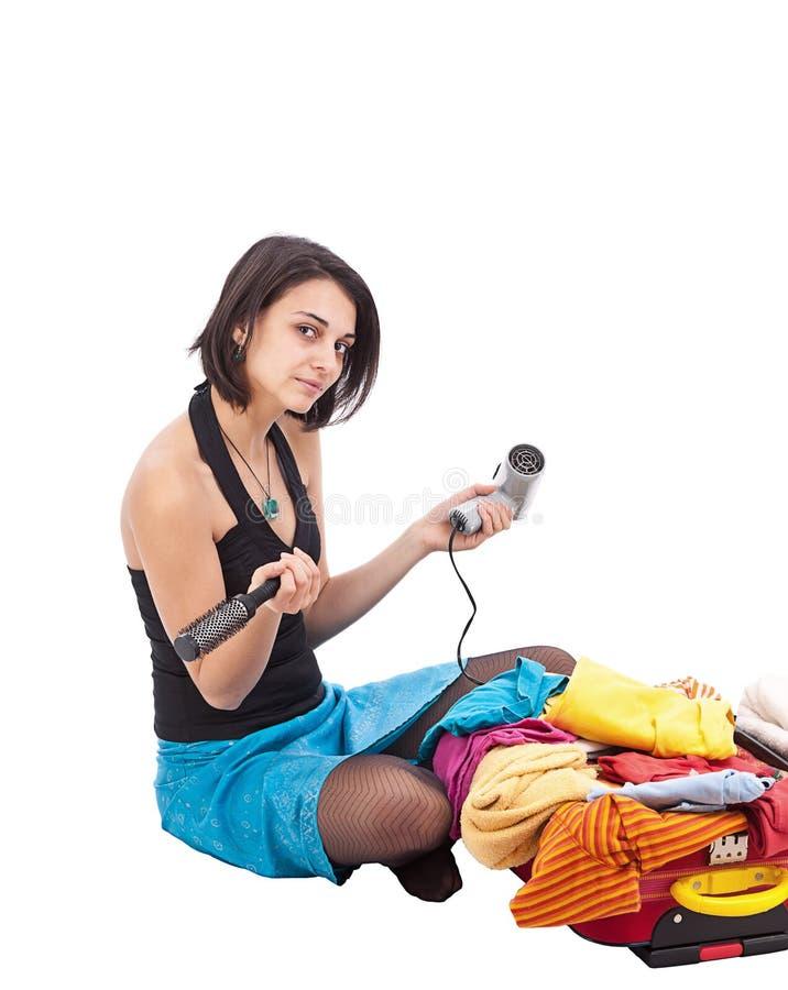 женщина упаковки стоковые изображения