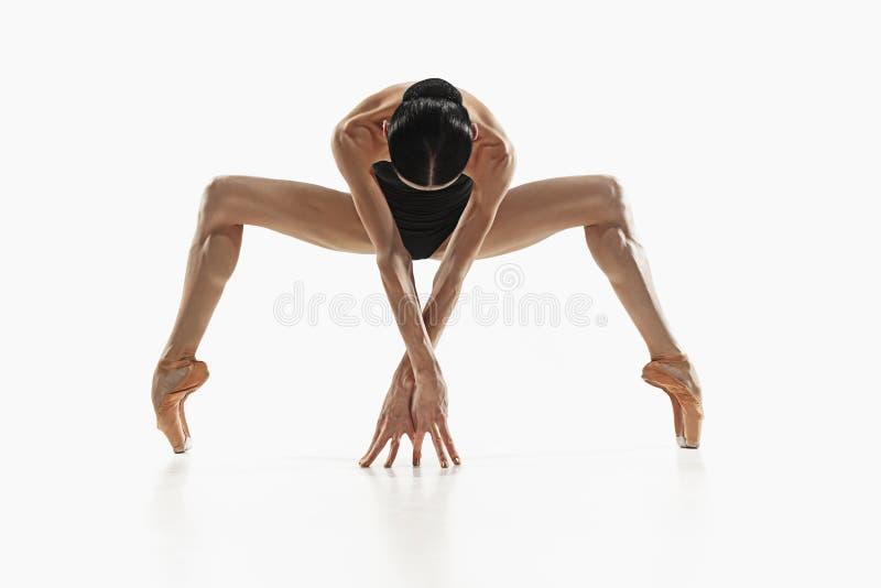 Женщина фитнеса аэробики работая изолированное полностью тело стоковое изображение rf