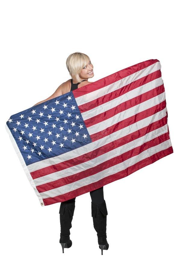 женщина флага стоковое фото
