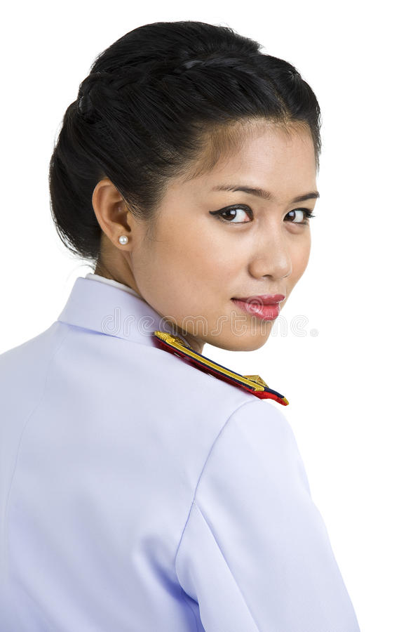 женщина формы армии стоковое фото rf