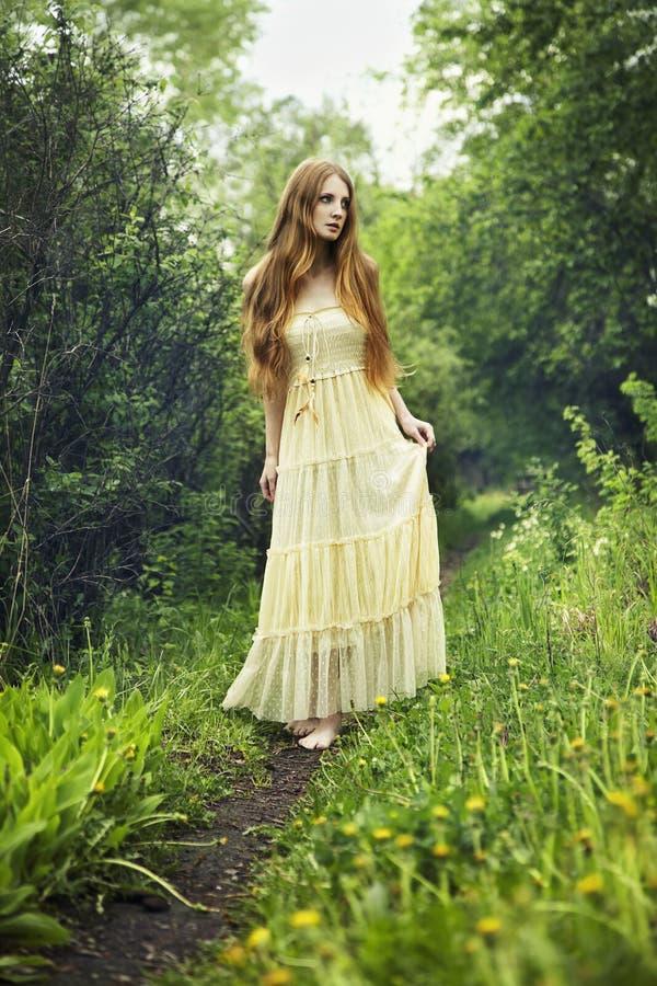 женщина фото fairy пущи романтичная стоковая фотография