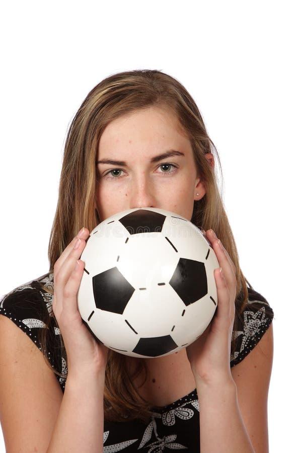женщина футбола стоковые фотографии rf