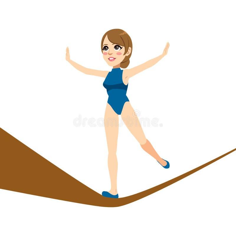 Женщина ходока опасного положения иллюстрация штока