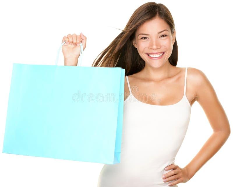 Женщина хозяйственной сумки стоковое изображение