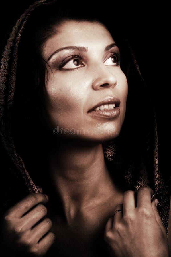 женщина художнического классицистического шикарного портрета ретро стоковая фотография rf