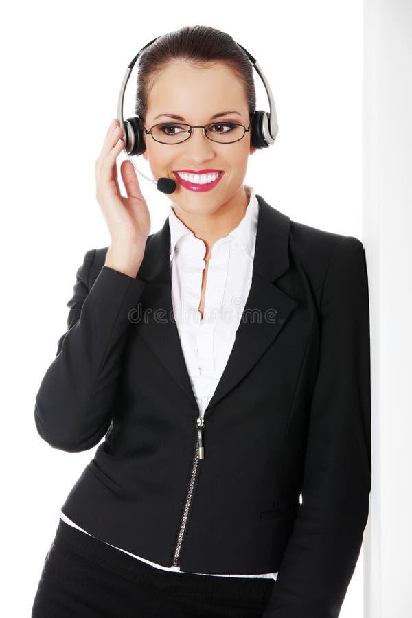 женщина центра телефонного обслуживания стоковое изображение rf