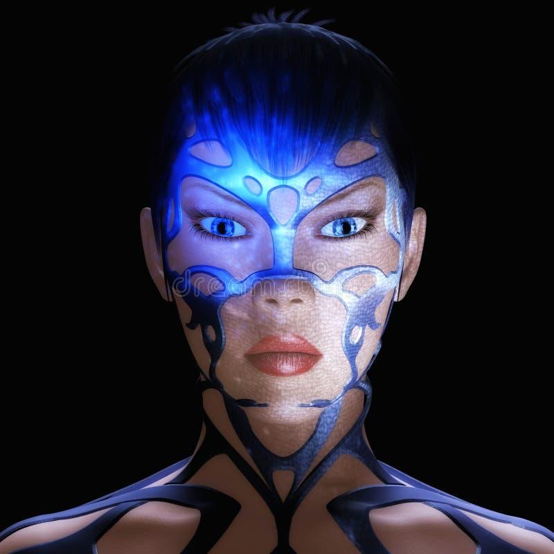 Женщина цифров бесплатная иллюстрация