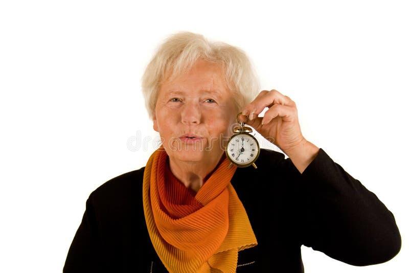 женщина часов стоковые изображения rf