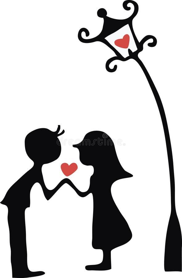 женщина человека влюбленности иллюстраций иллюстрация штока