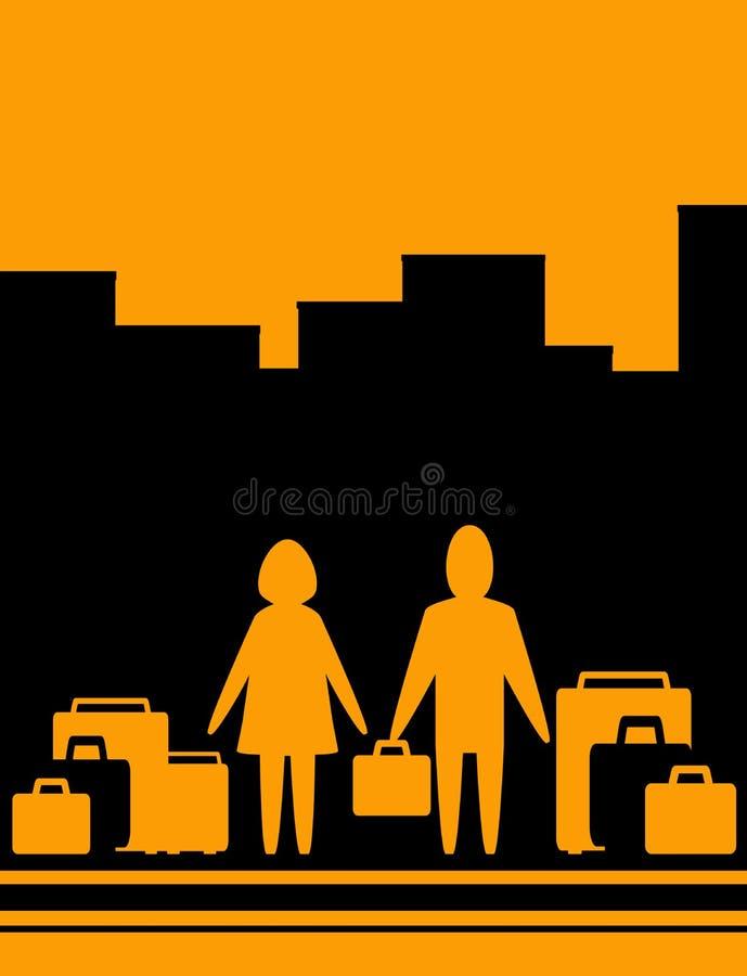 женщина человека мешка предпосылки бесплатная иллюстрация