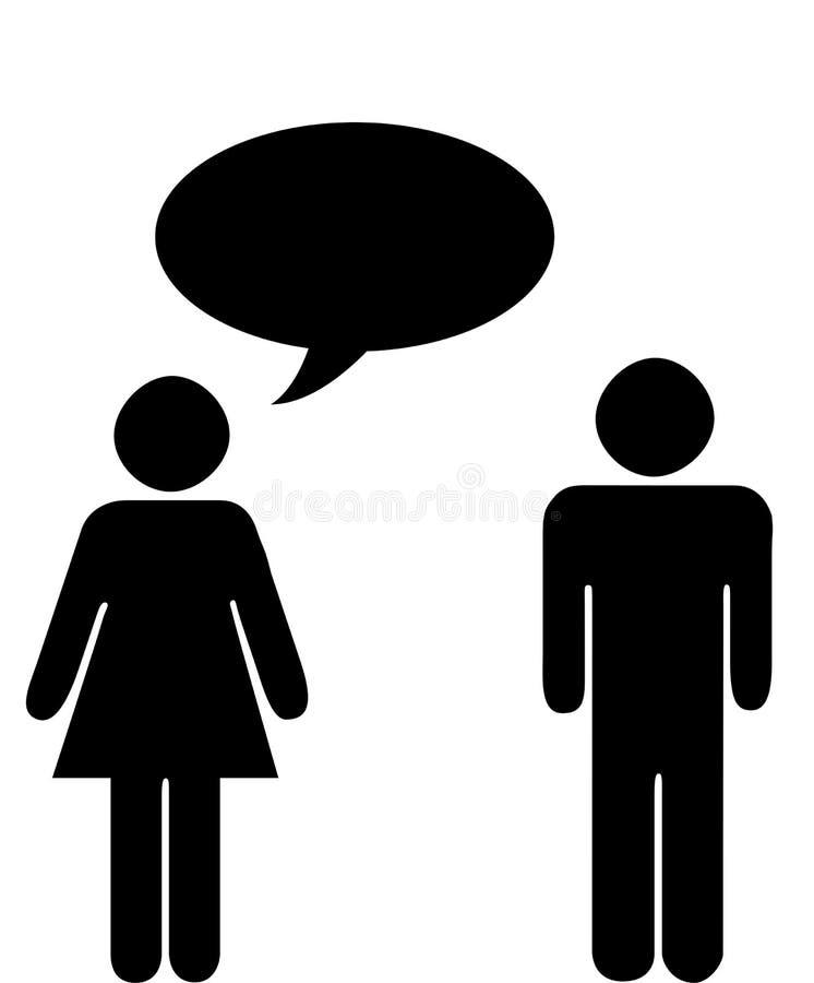 женщина человека иллюстрация вектора