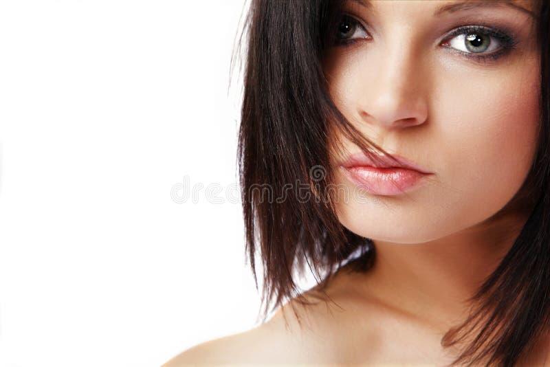 женщина черных волос длинняя стоковая фотография rf
