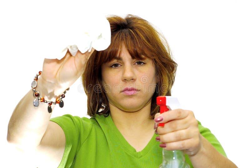 женщина чистки стоковые изображения rf