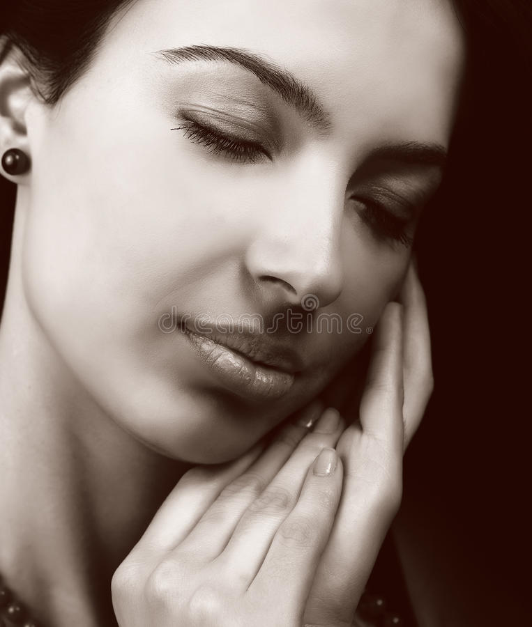 женщина чувственной кожи мягкая стоковая фотография rf