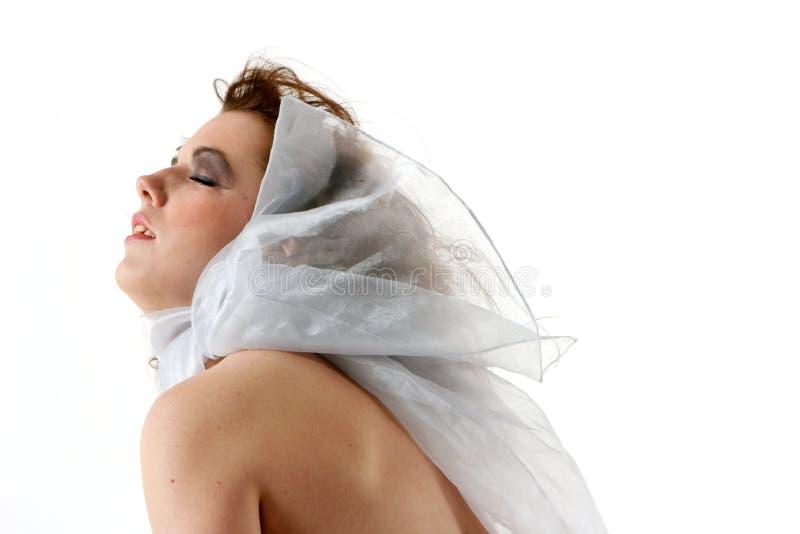 женщина шарфа стоковые фотографии rf
