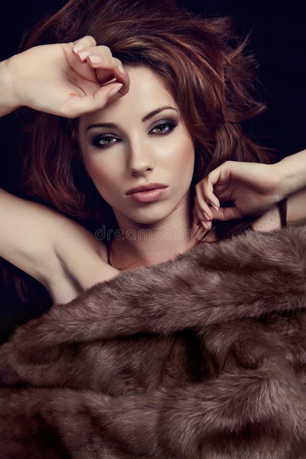 женщина шерсти чудесная стоковая фотография rf
