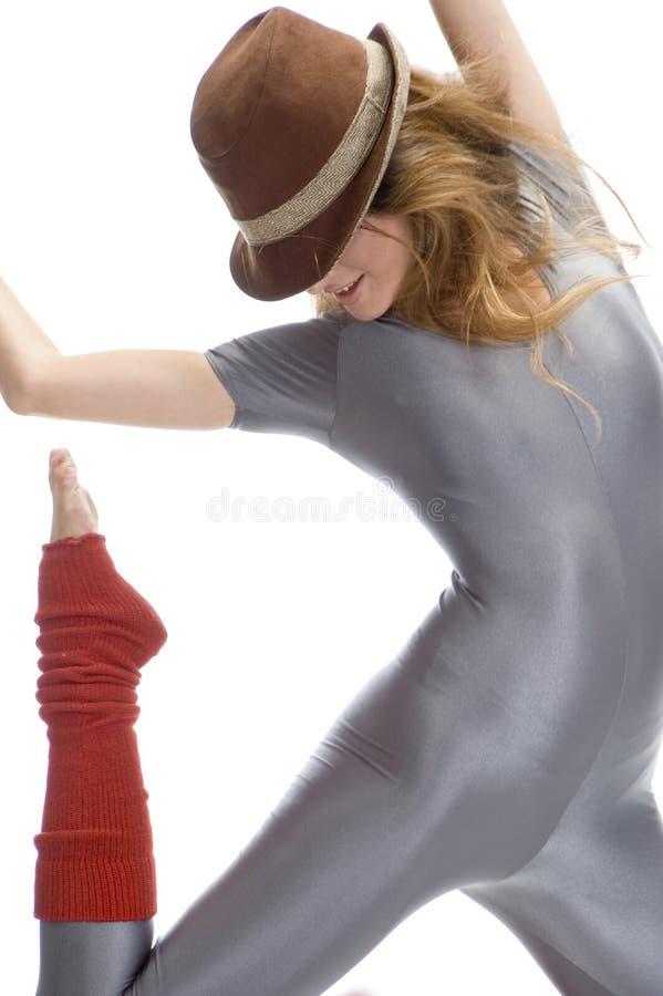 женщина шлема танцы стоковые изображения rf