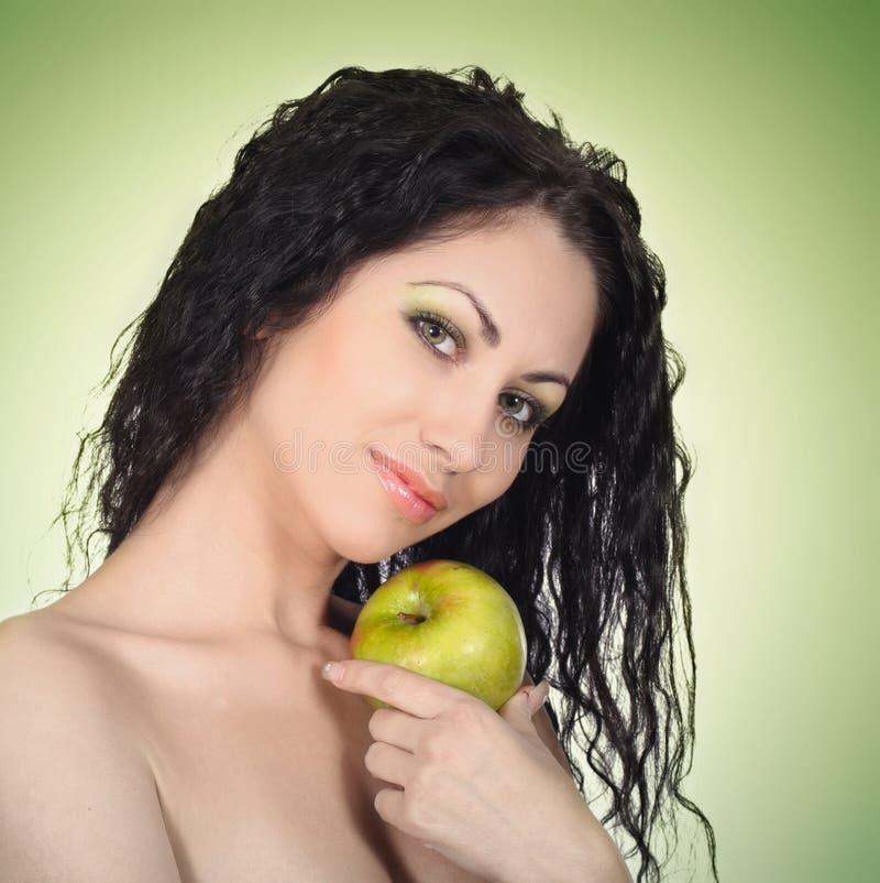 женщина яблока красивейшая стоковые фото