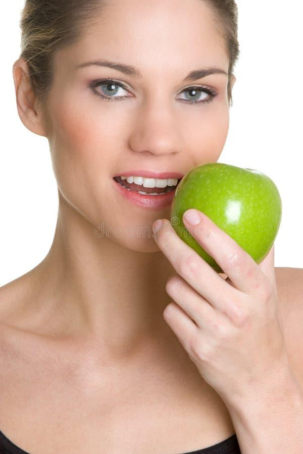 женщина яблока стоковая фотография rf