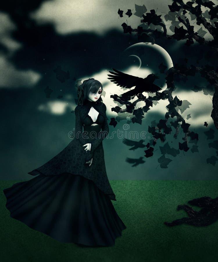 женщина 3d в черноте бесплатная иллюстрация