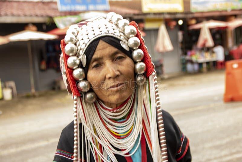 Женщина Akha стоковое фото rf