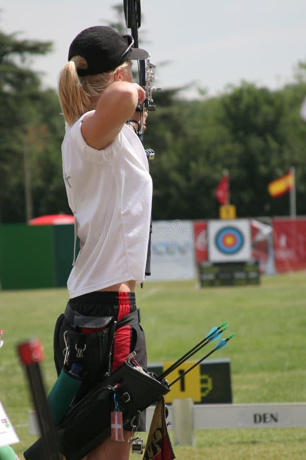 женщина archery стоковая фотография