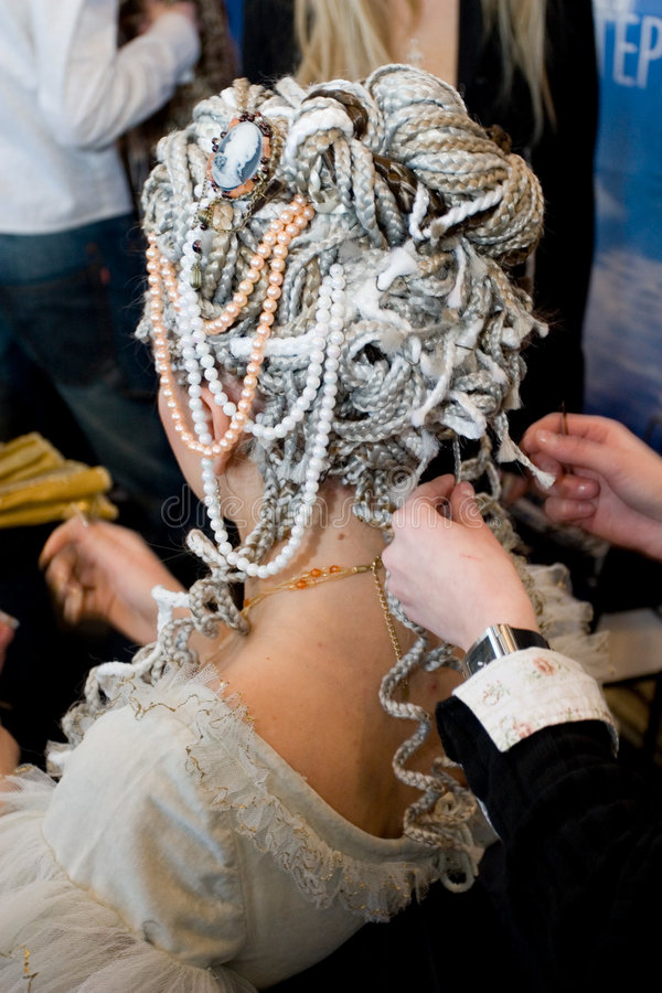 женщина coiffure стоковая фотография