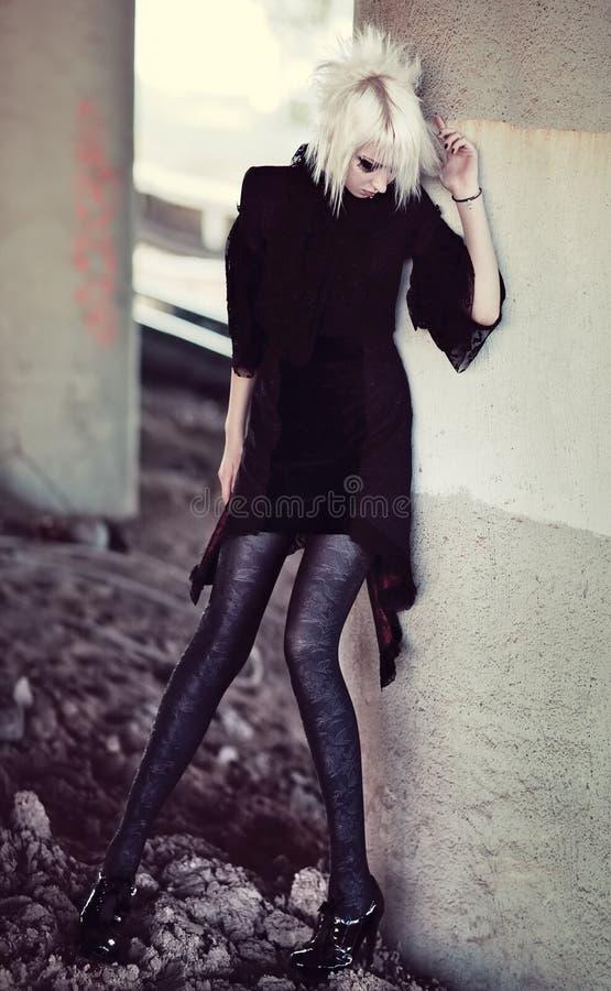 женщина goth стоковое изображение rf