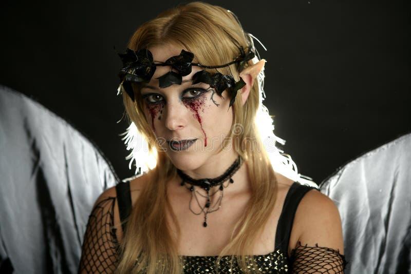 женщина halloween платья стоковое фото rf