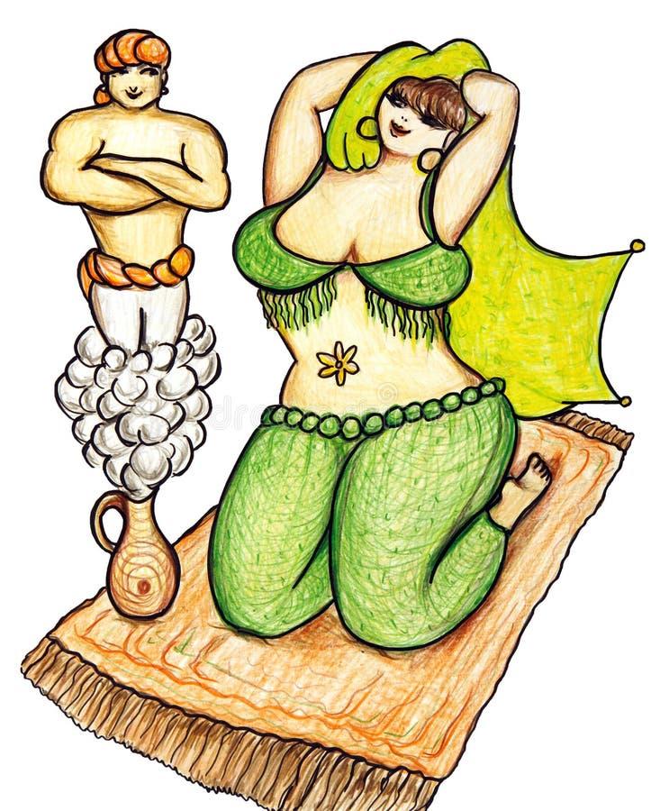 женщина harem джинов бесплатная иллюстрация